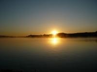 Západ slunce nad Ebre