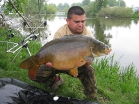 Pepča s kaprem 80 cm 11kg z Labe.Květen 2010