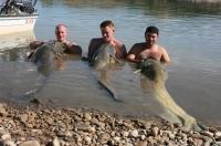 Honza, Tom, Filip a jejich dvojky. Ebro říjen 010