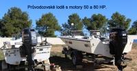 Průvodcovské lodě s motory 80 a 50 HP
